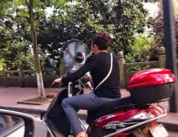 вентилятор на скутере