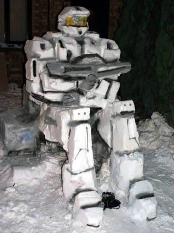 Фигура из снега рис 2