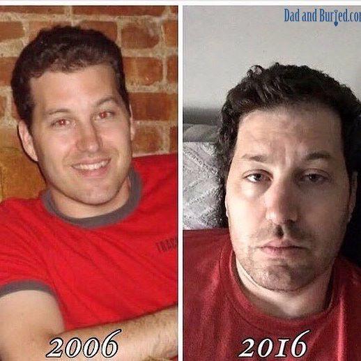 парень в 2006 и в 2016