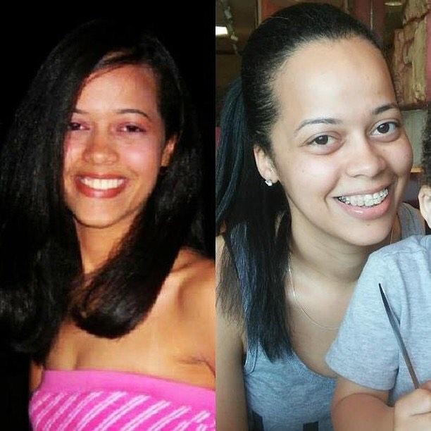брюнетка до и после рождения ребенка