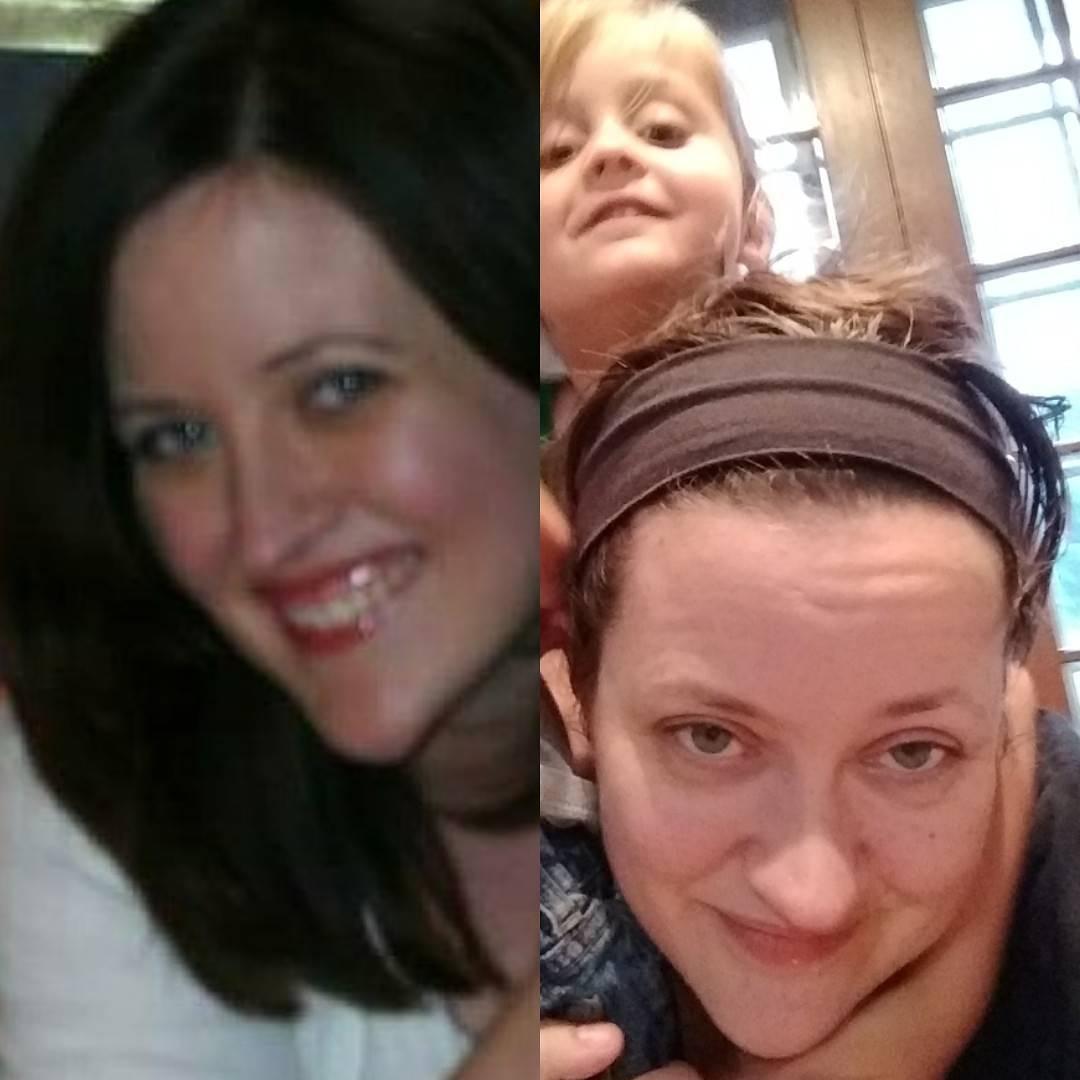 девушка до и после рождения ребенка