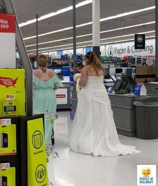 невеста в волмарте