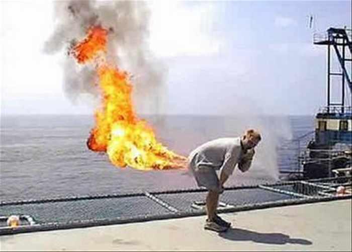 мужчина и огонь