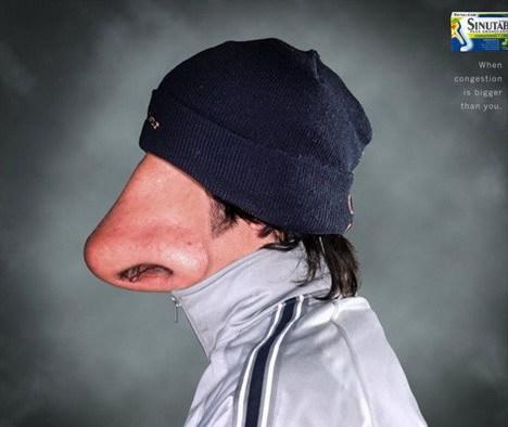 большой нос вместо лица
