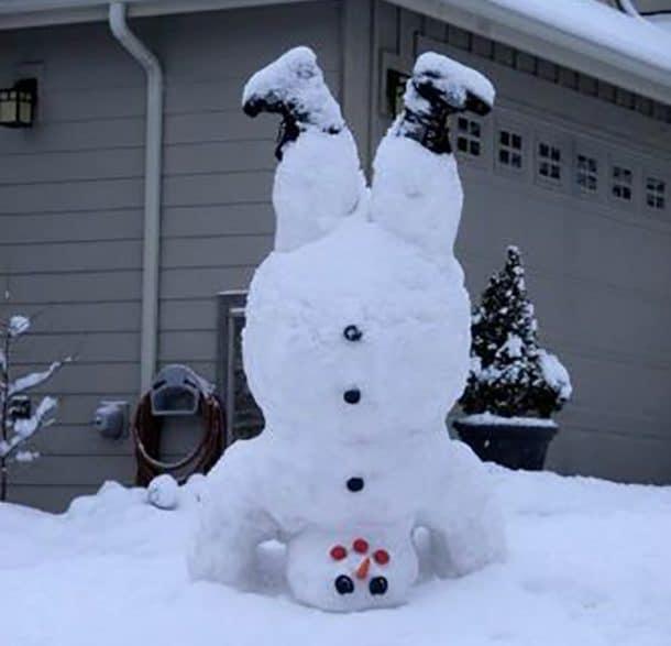 Снеговик перевернутый