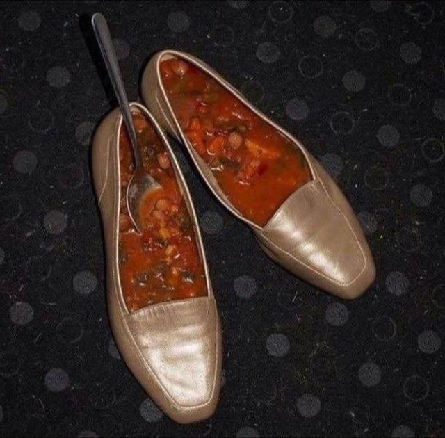 борщ в туфлях