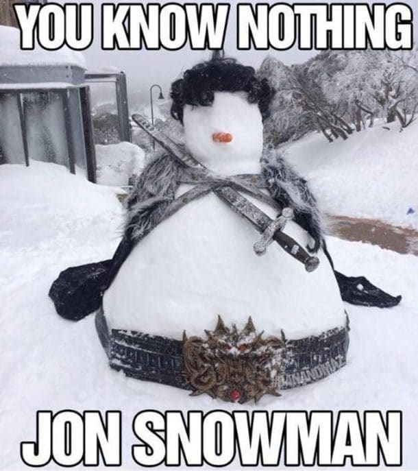 Снеговик с мечом