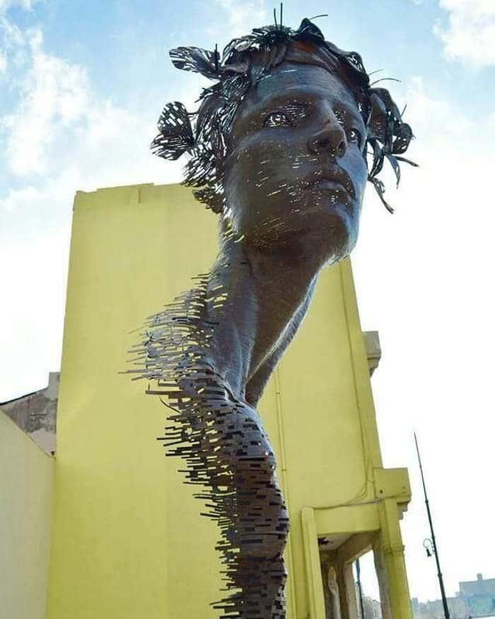 скульптура женщины в гаване, куба