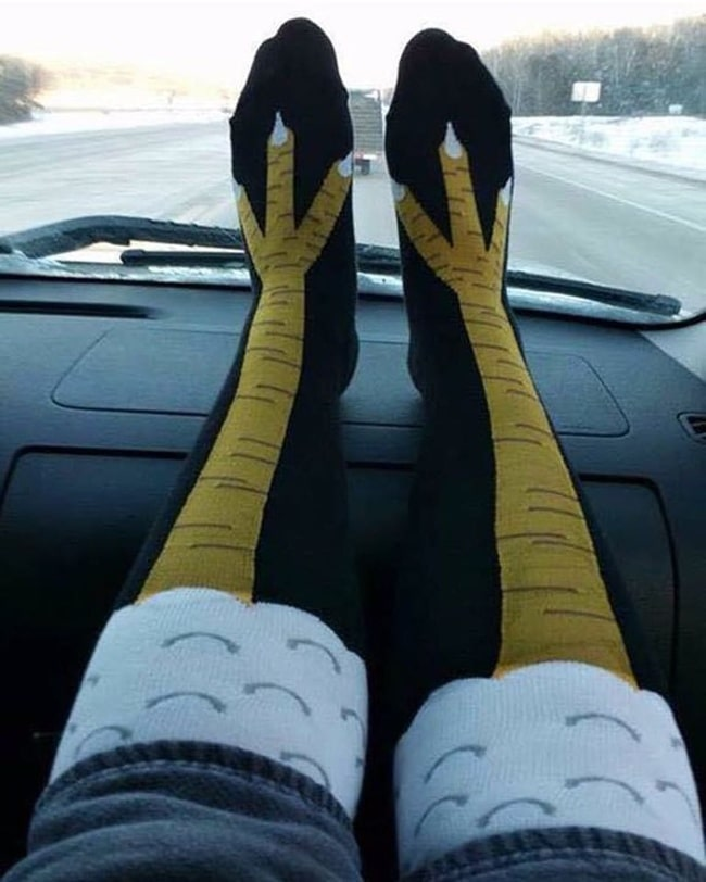 Колготки в виде страусиных ног