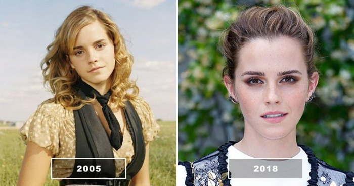 эмма уотсон в 2005 и в 2018