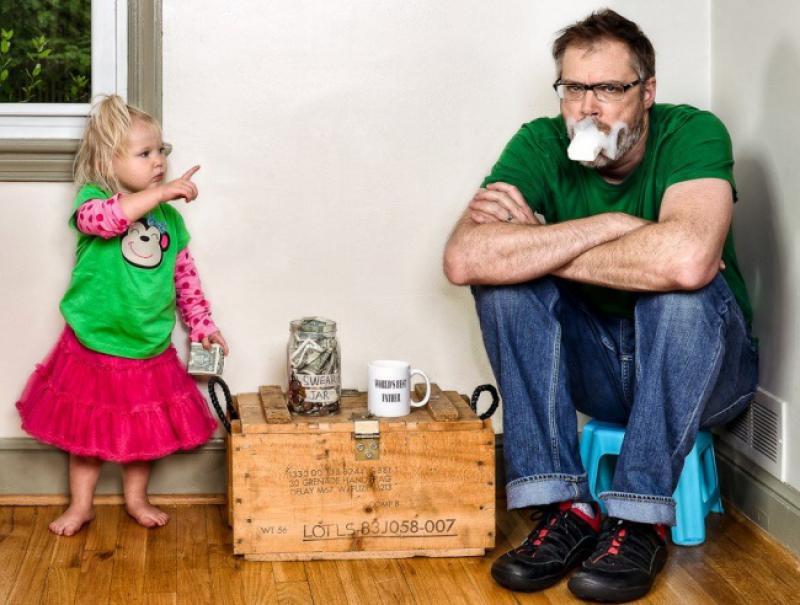 Дочь учит отца
