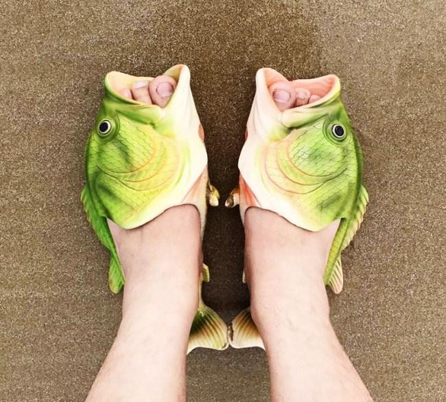 шлепанцы в виде рыбы