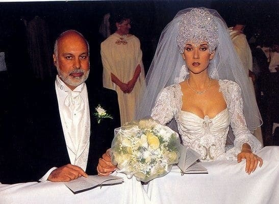 селин дион на своей свадьбе