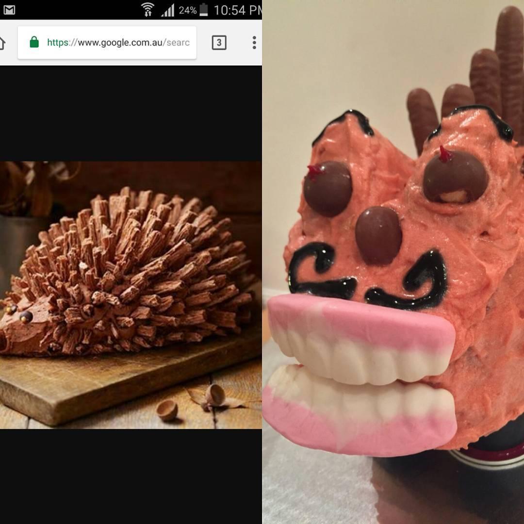 торт в форме ежика