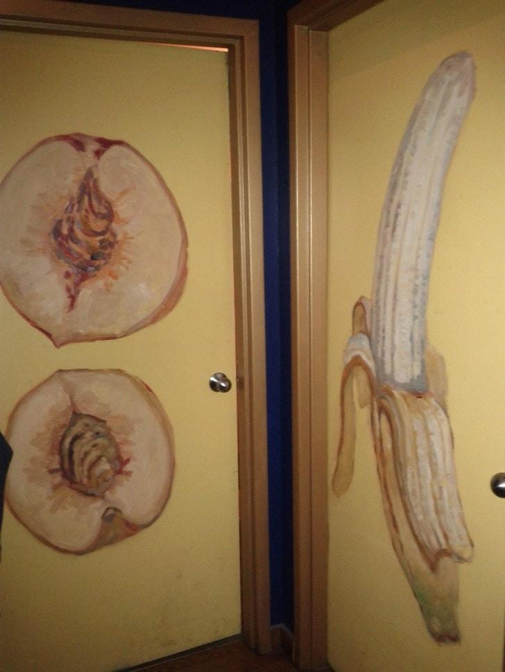 персик и банан