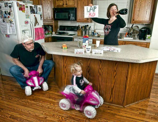 Соревнования отца и дочери