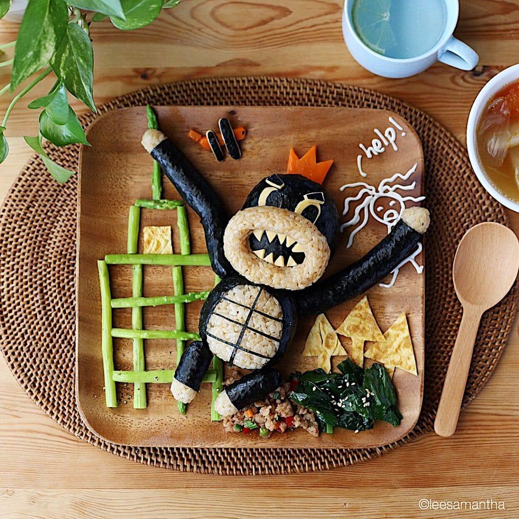 Кинг-Конг из еды