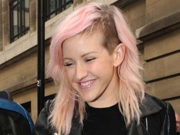 элли голдинг с розовыми волосами