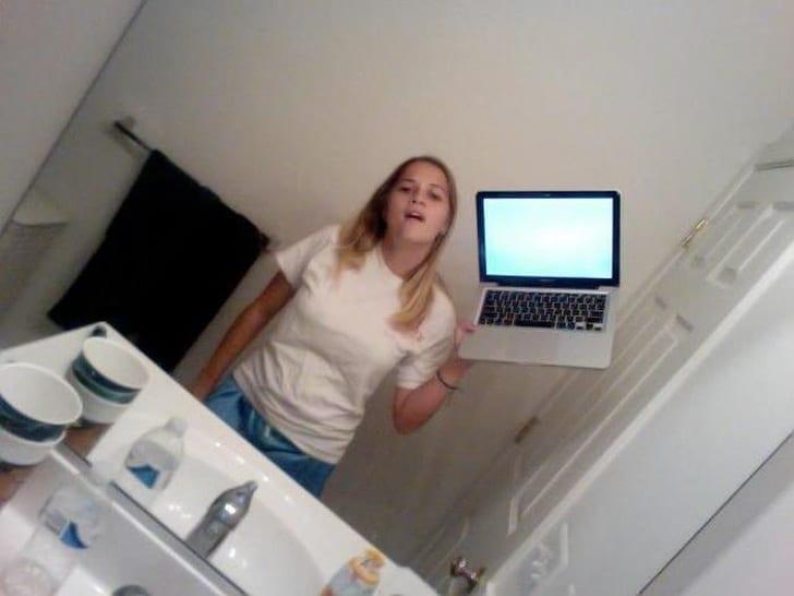 селфи в ванной
