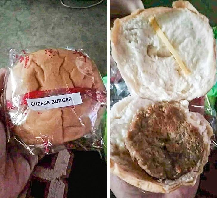 бургер с сыром
