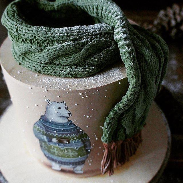 Торт с шарфиком