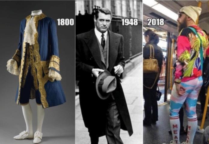 мужская одежда из разных эпох