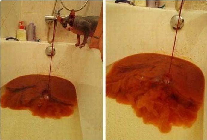 красная вода из крана