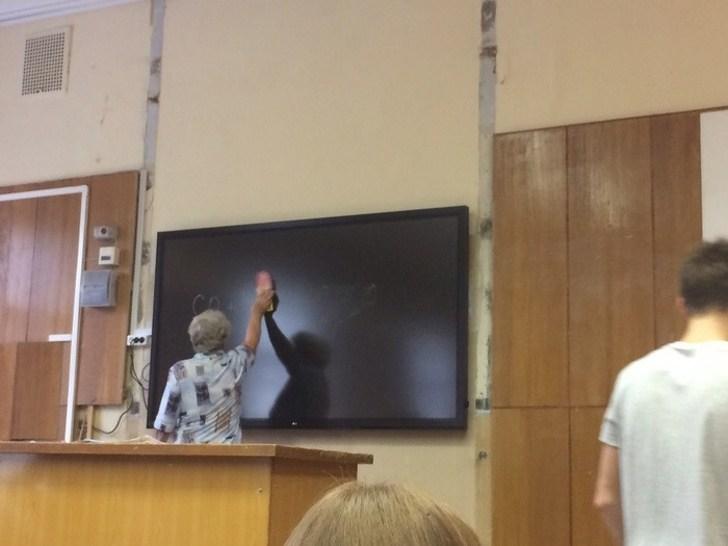 учитель и телевизор