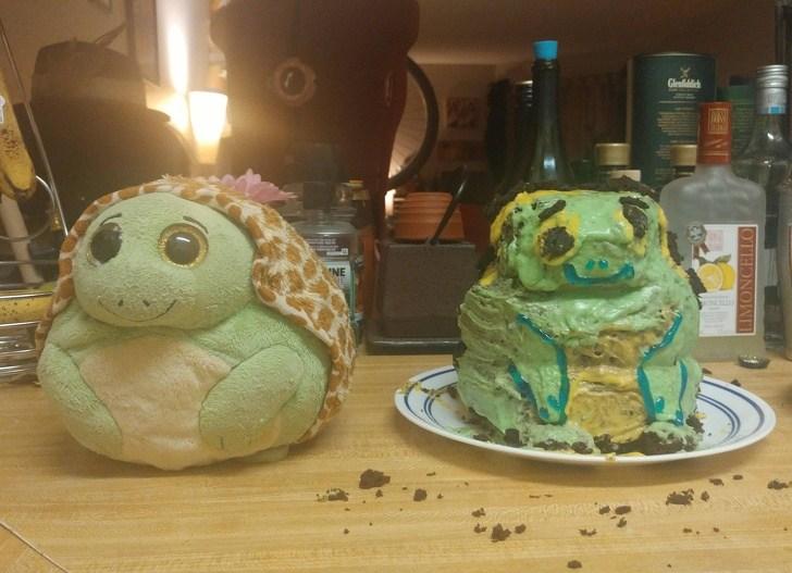 торт в форме черепахи