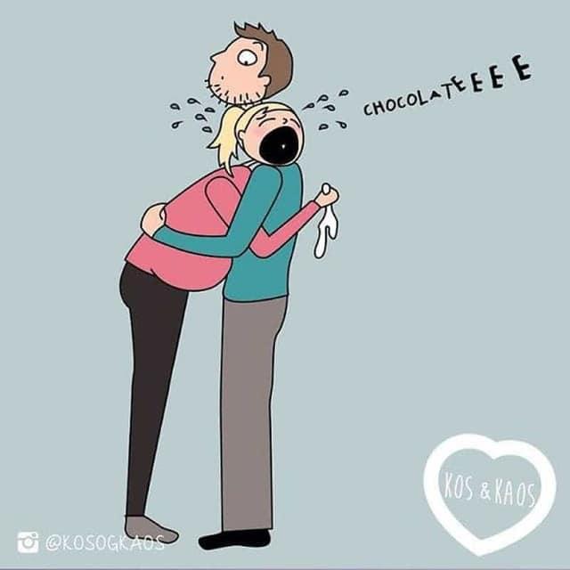 Комикс. Беременная плачет