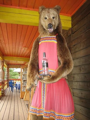 медведь в сарафане