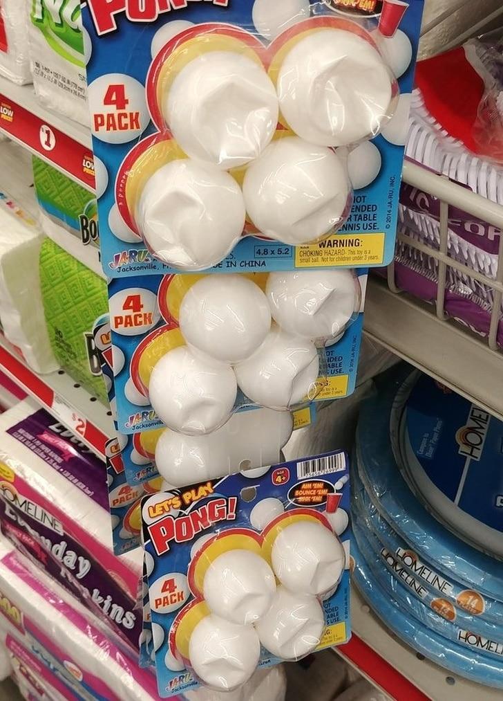 шарики для пинг-понга