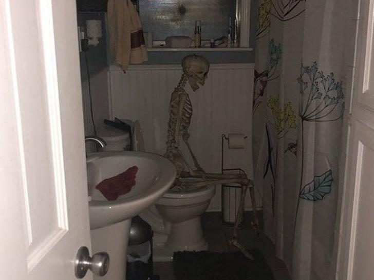 скелет в туалете