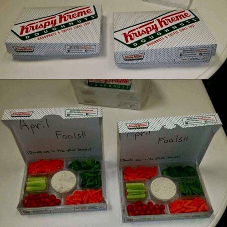 коробка с овощами