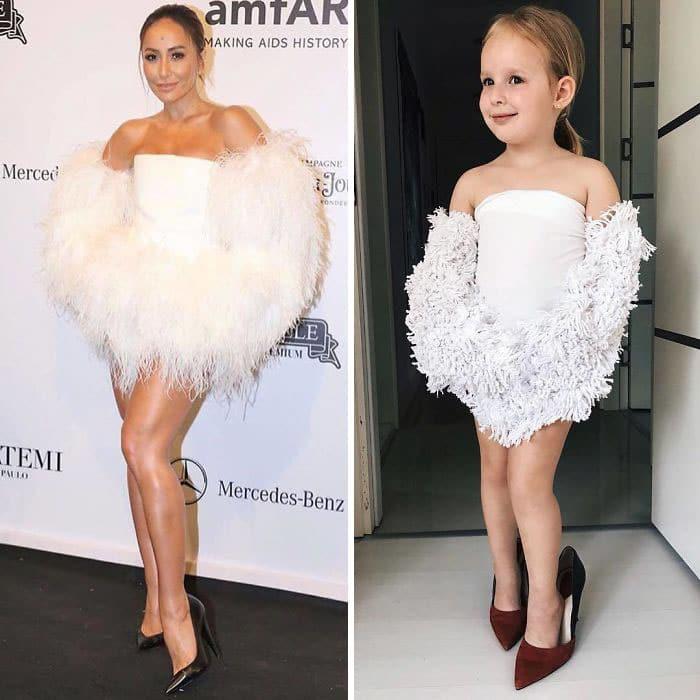 сабрина сато в белом платье