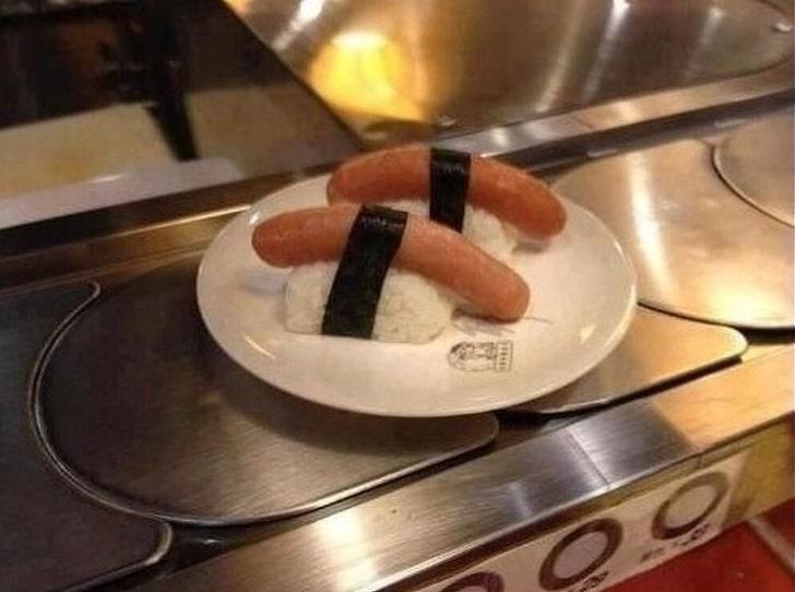 суши с сосиской