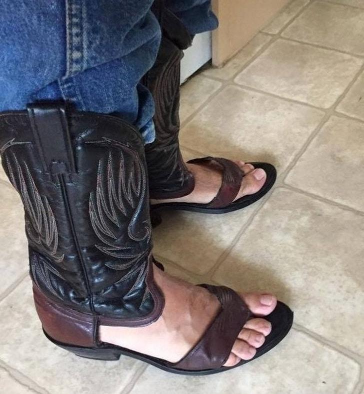 обувь ковбоя