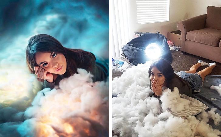 фото в облаках