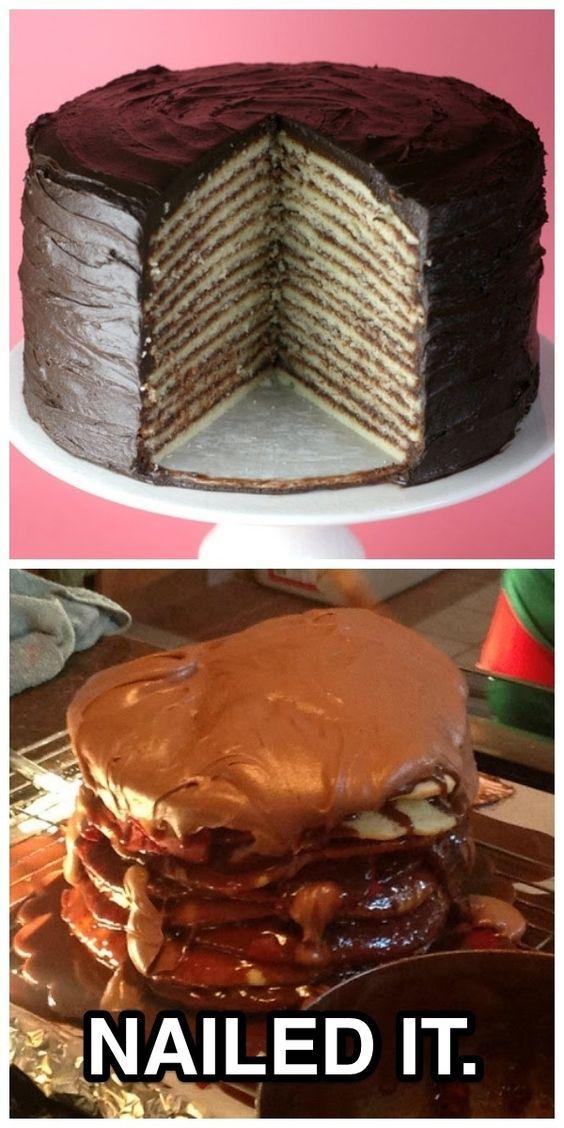 Пример торта и его неудачное исполнение
