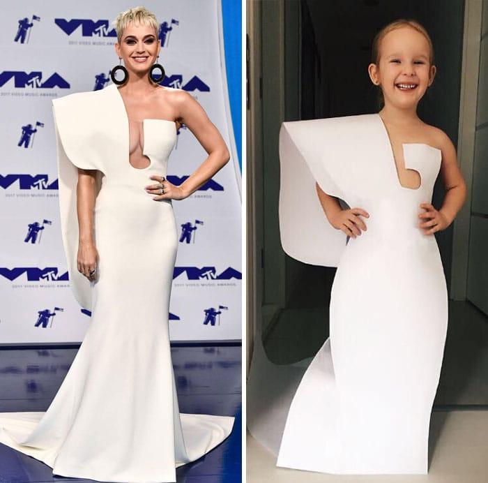 кэти перри в длинном белом платье