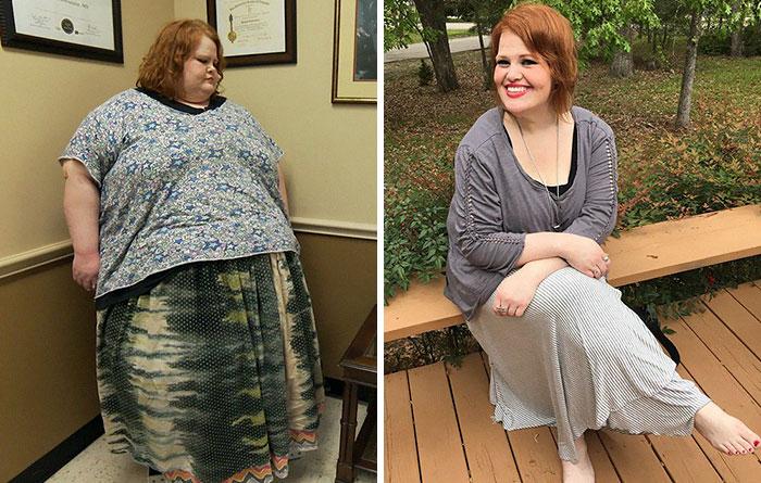 Фотографии полной и похудевшей женщины
