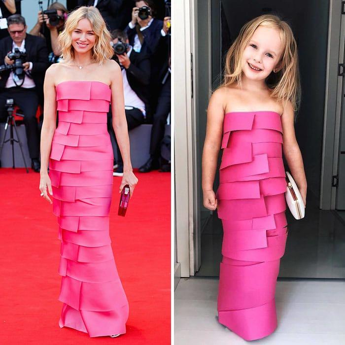наоми уоттс в розовом платье на красной дорожке