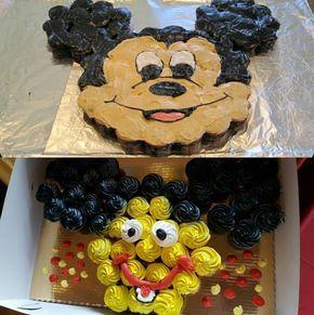 торт в форме микки мауса