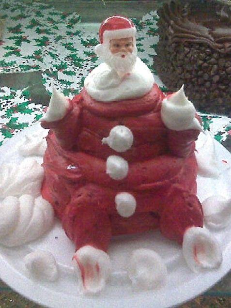торт в форме деда мороза