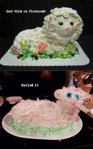 Торт и его неудачная интерпретация