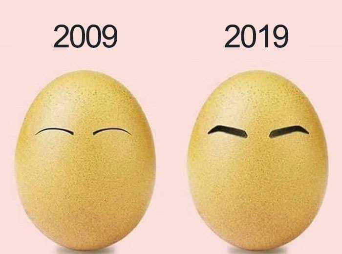 яйца с бровями