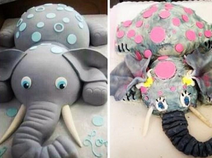 торт в виде слоненка