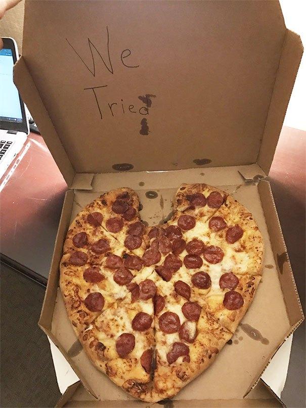 надкусанная пицца