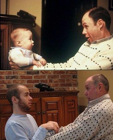 папа с сыном тогда и сейчас