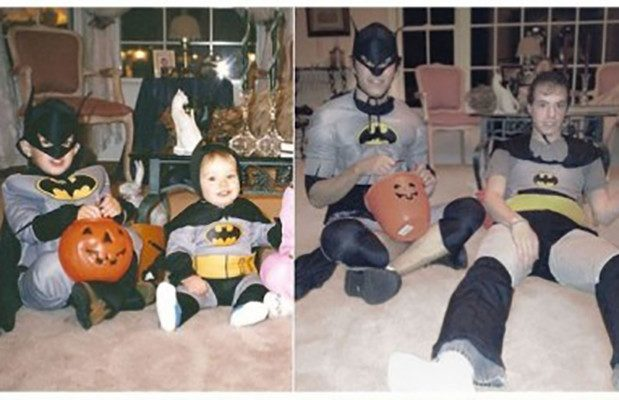 братья в костюмах бэтмена
